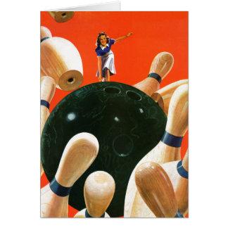 Bowling Strike Card