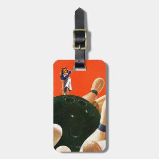 Bowling Strike Travel Bag Tag