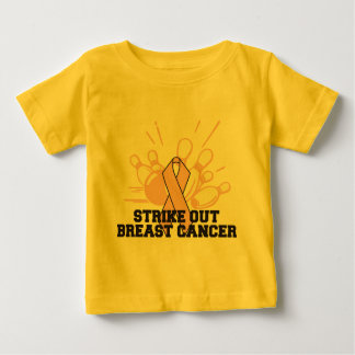Bowling Strike Out Breast Cancer Tee Shirt