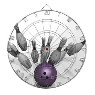 Bowling Strike - Pins Dartboard With Darts