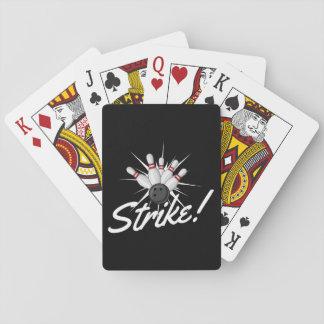 bowling strike! playing cards