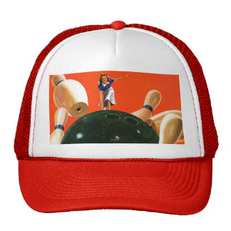 Bowling Strike Trucker Hat