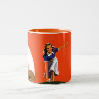 Bowling Strike Two-Tone Coffee Mug