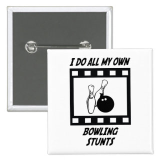 Bowling Stunts 2 Inch Square Button