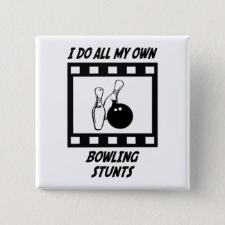 Bowling Stunts Pinback Button