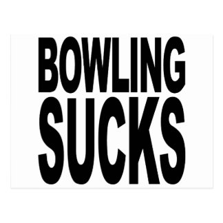 Bowling Sucks Postcard