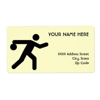 Bowling Symbol Label