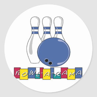 Bowling T-shirts and Gifts. Classic Round Sticker