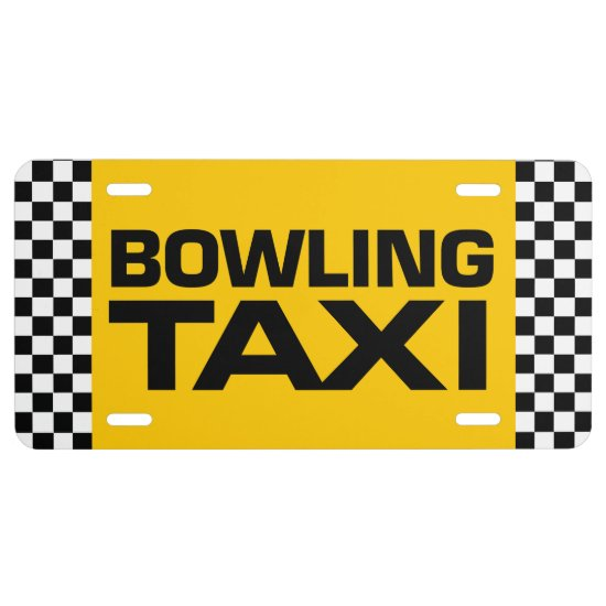 Bowling Taxi License Plate