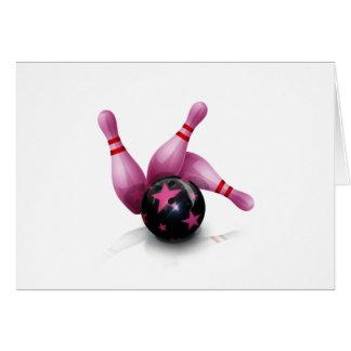 Bowling Team - Ball And Pins. Card