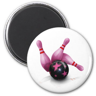 Bowling Team - Ball And Pins. Magnet