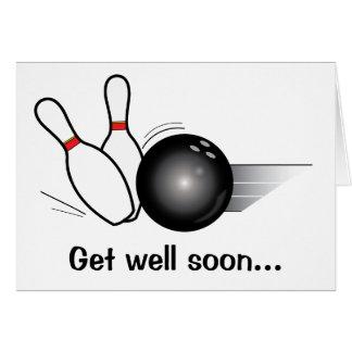 Bowling Team Get Well Soon Card