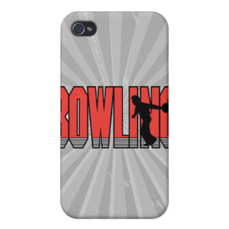 bowling text silhouette design iPhone 4/4S covers