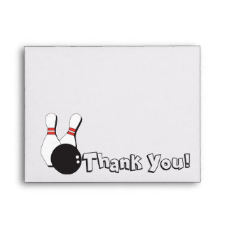 Bowling Thank You Matching Envelope for Everyone!