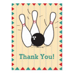 Bowling Thank You Postcard Post Card