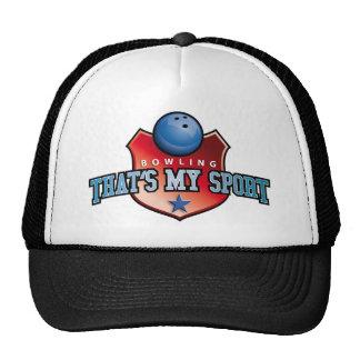 bowling - that's my sport trucker hat