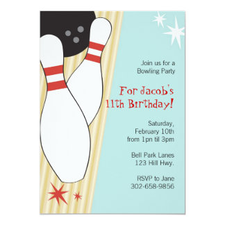 Bowling Themed Party Invitations Announcements Zazzle