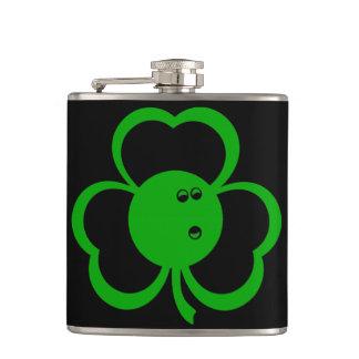 Bowling Three Leaf Clover Flask