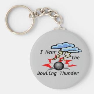 Bowling Thunder Gray Keychain