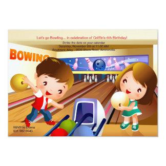 Bowling Tots Birthday Party Invitation