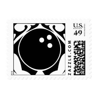 bowling. tribal. stamp