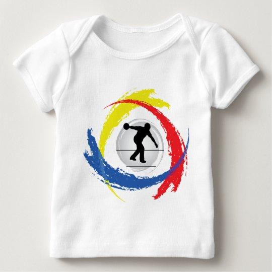 Bowling Tricolor Emblem Baby T-Shirt