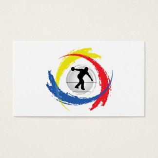 Bowling Tricolor Emblem Business Card