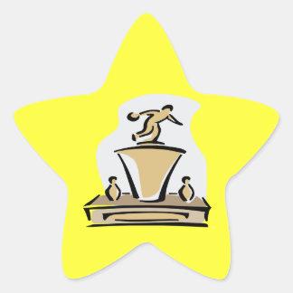 Bowling Trophy Star Sticker