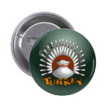 Bowling Turkey 2 Inch Round Button