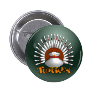 Bowling Turkey 2 Inch Round Button