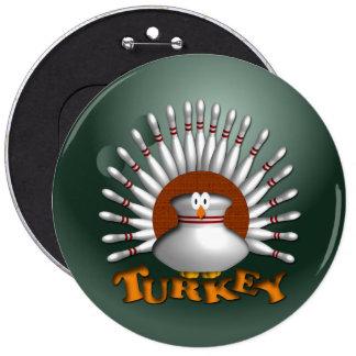 Bowling Turkey 6 Inch Round Button