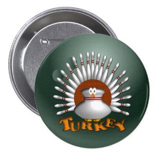Bowling Turkey Pinback Button