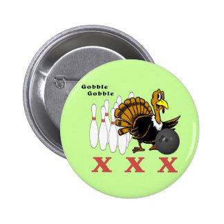 Bowling Turkey XXX Pinback Button