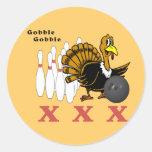 Bowling Turkey XXX Classic Round Sticker
