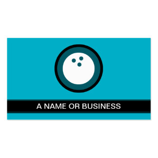 bowling turquoise bubble Double-Sided standard business cards (Pack of 100)
