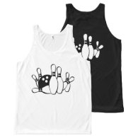 Bowling Unisex Tank Top All-Over Print Tank Top