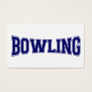 Bowling University Style Business Card