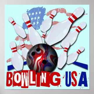 Bowling USA Print