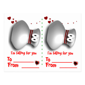 Bowling valentines postcard