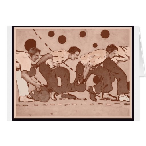Bowling Vintage Card