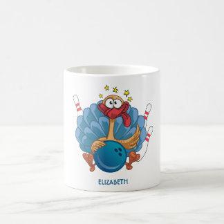 Bowling Wild Turkey With Ball And Pins Coffee Mug