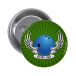 Bowling Wings Button