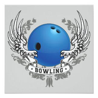 Bowling Wings Invitation