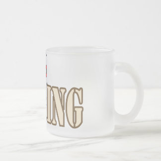 Bowling with Pin Frosted Glass Coffee Mug