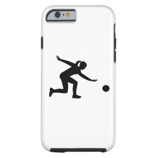 Bowling woman tough iPhone 6 case