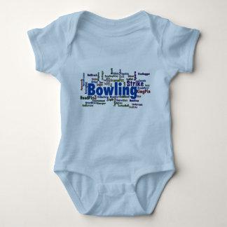 Bowling Word Cloud Infant Creeper