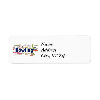 Bowling Word Cloud Label