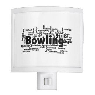 Bowling Word Cloud Night Light