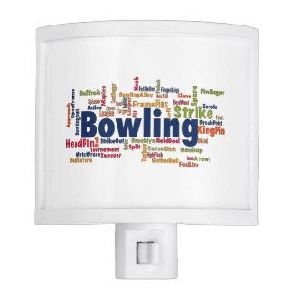 Bowling Word Cloud Nite Lites