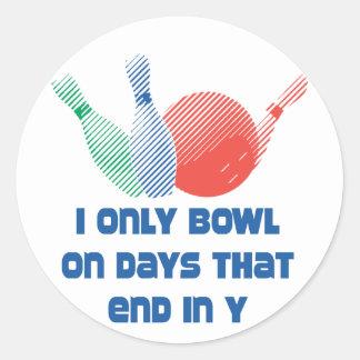 BowlingChick Days Classic Round Sticker
